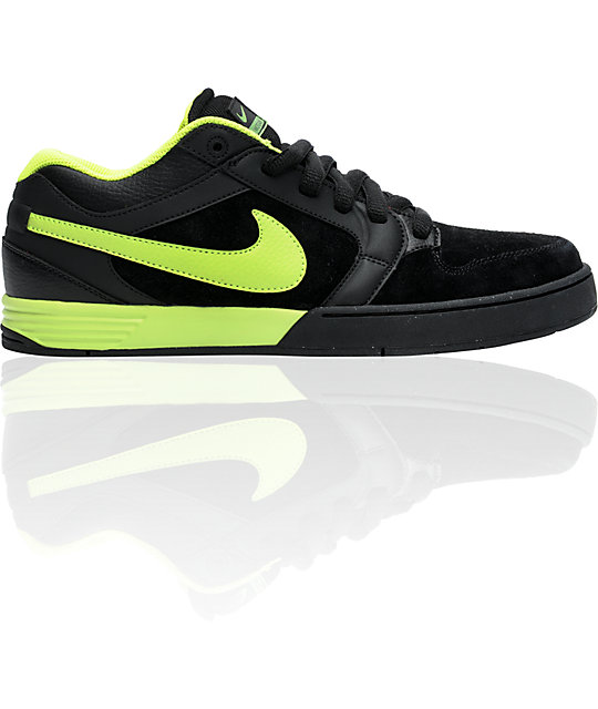 Nike 6.0 Zoom Mogan 3 Lunarlon Black & Volt Shoes