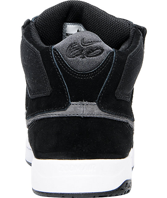 Nike 6.0 Zoom Mogan Mid 2 Black, Grey, & White Shoes