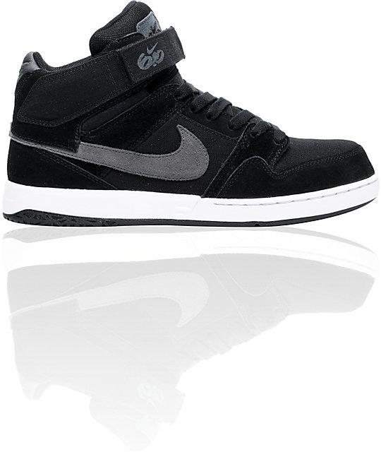 nike 6 0 zoom mogan mid 2 black grey white shoes. Black Bedroom Furniture Sets. Home Design Ideas