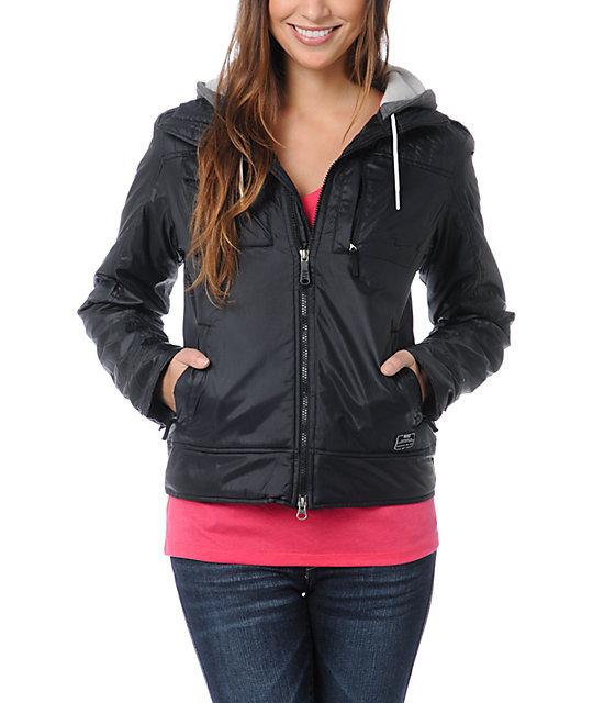 Nike Action Pearl Black Hooded Jacket