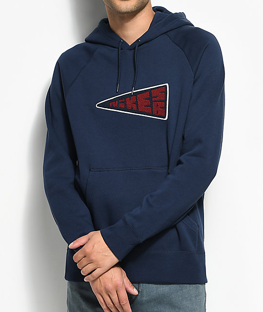 Banner Icon Navy Hoodie
