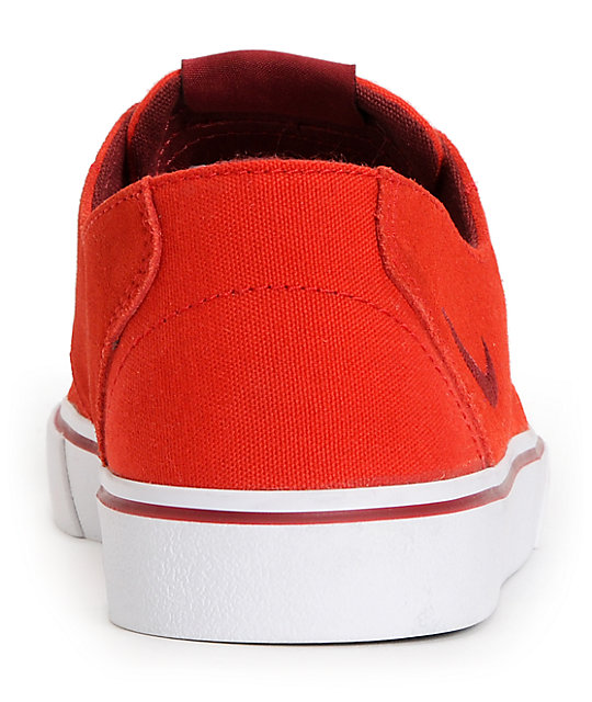 Nike Braata LR University Red, Team Red & White Suede Skate Shoes