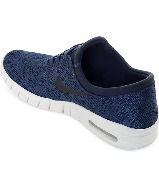 Nike Janoski Air Max Obsidian & Platinum Skate Shoes