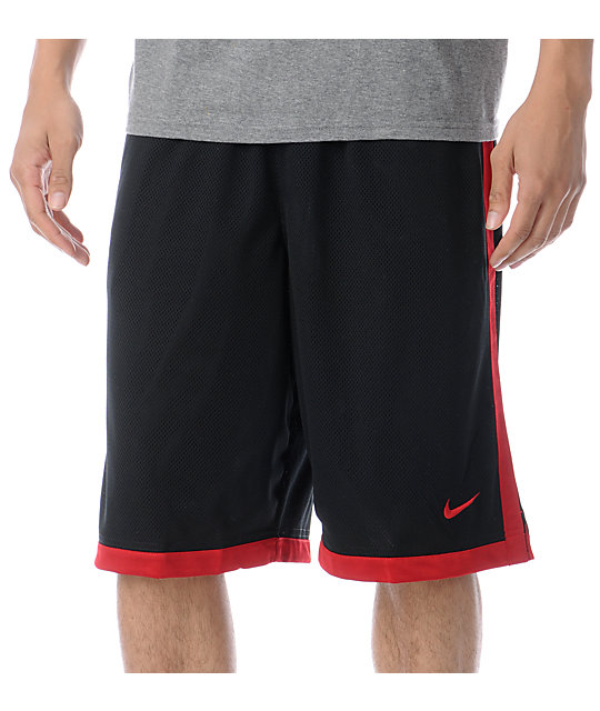 Nike Money 23 Black & Red Mesh Shorts