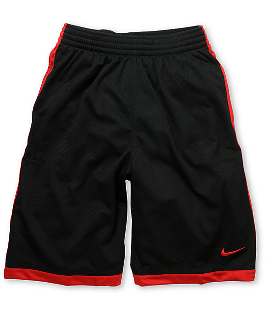 Nike Money 23 Black & Red Mesh Shorts