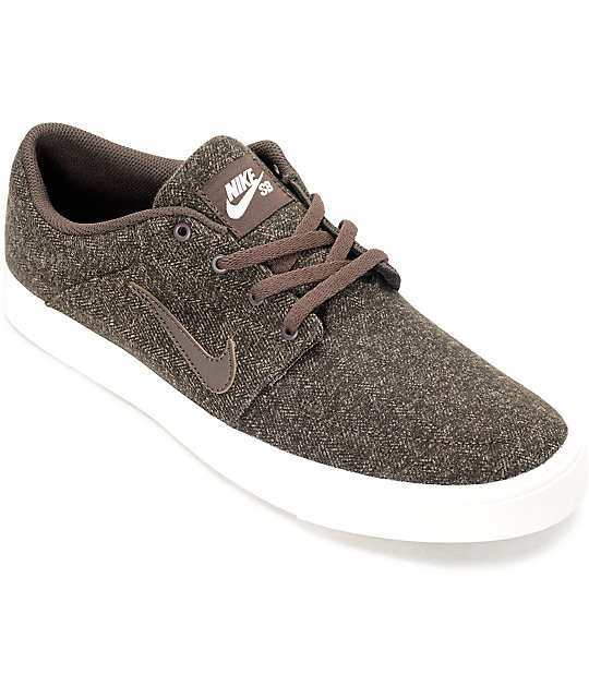 Nike Portmore Premium Canvas Baroque Skate Shoes
