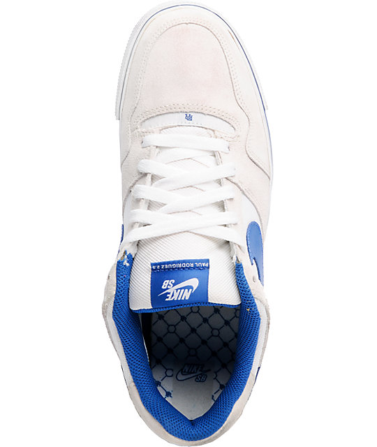 Nike SB 2.5 White, Royal & Blue Shoes
