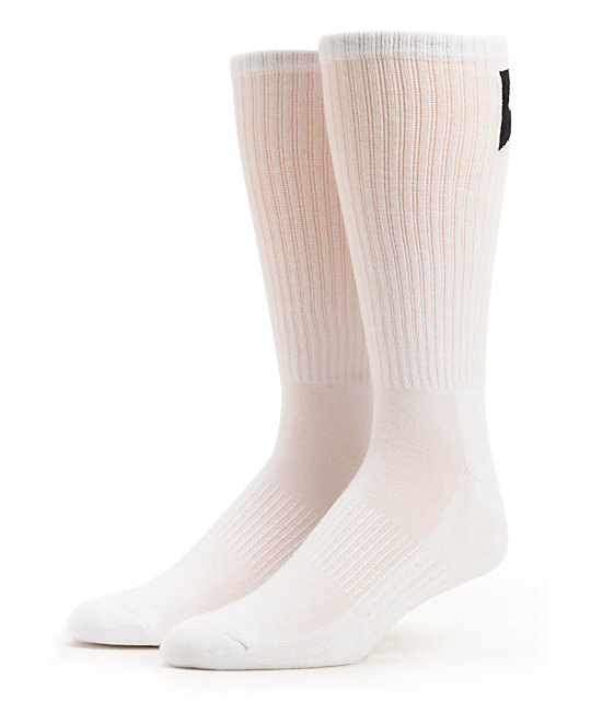 Nike SB 3 Pack White Skateboarding Crew Socks