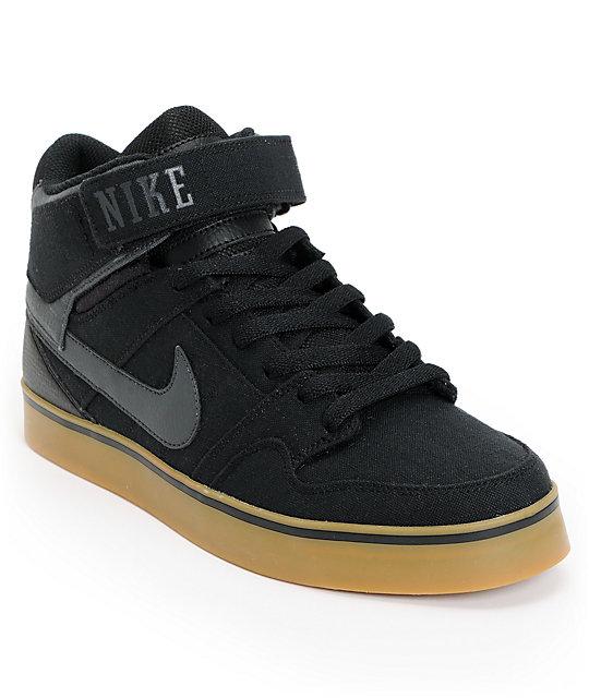 Nike SB Air Mogan Mid 2 SE Black & Gum Rip Stop Shoes