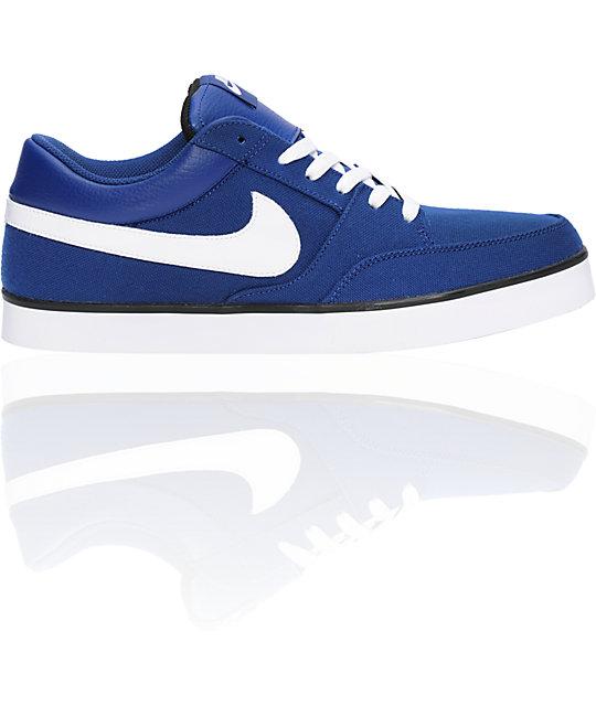 Nike SB Avid Canvas Deep Royal, White, & Black Shoes