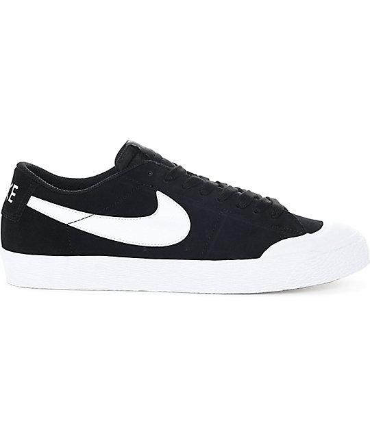 size 40 3c409 ad342 Nike SB Blazer XT Low Black White Suede Skate Shoes .
