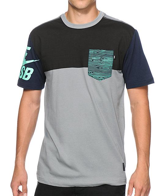 Nike Sb Blocked Out 2 0 Dri Fit Pocket T Shirt