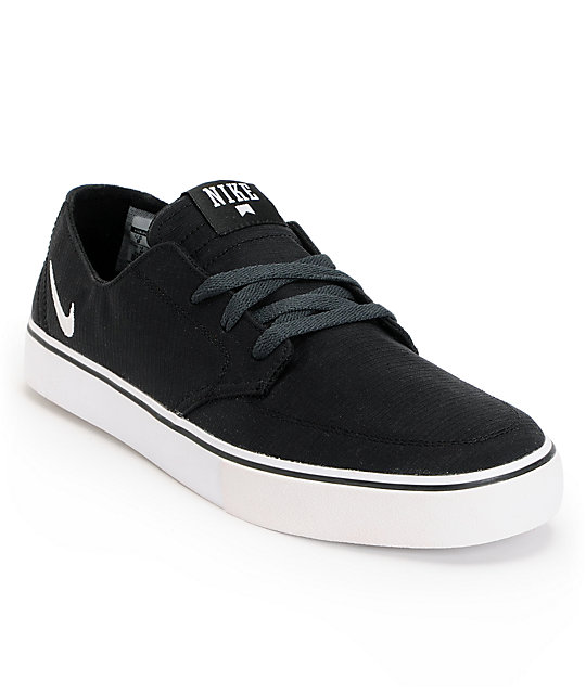 Nike SB Braata LR Black, White & Anthracite Canvas Skate Shoes