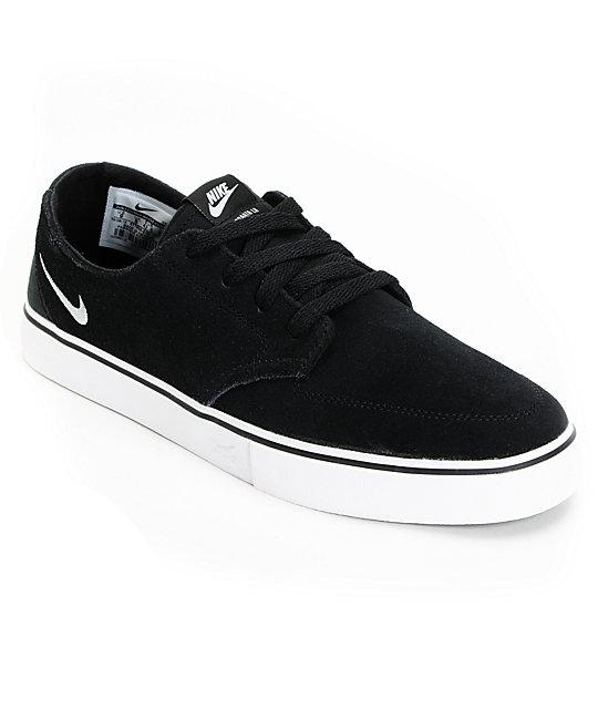 Nike SB Braata LR Drenched Black & Metallic Silver Skate Shoes
