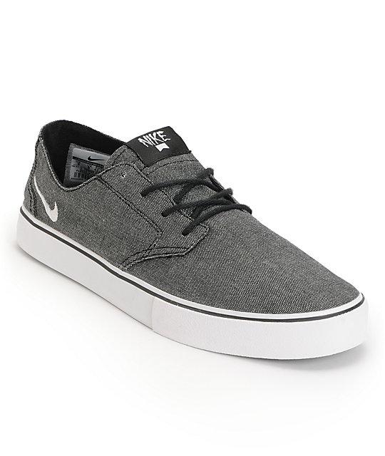 nike sb braata lr express black white canvas skate shoes