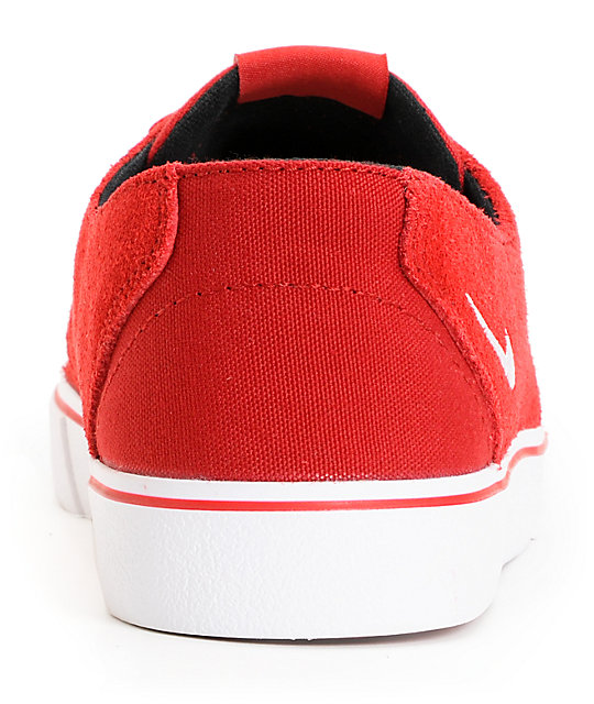 Nike SB Braata LR Gym Red & White Skate Shoes