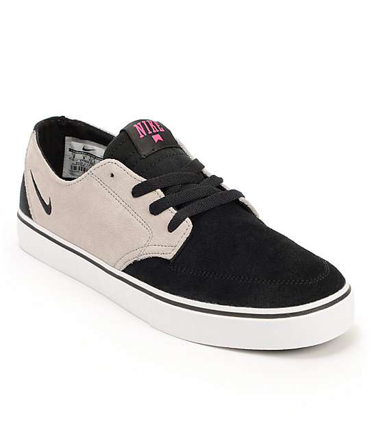 Nike SB Braata LR Medium Grey, Black, & Pink Foil Shoes