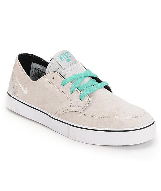 Nike SB Braata LR Neutral Grey, White & Crystal Mint Skate Shoes