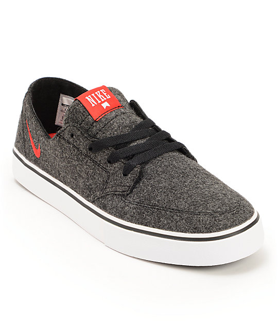 Nike SB Braata LR Premium Black, University Red, & White Wool Shoes