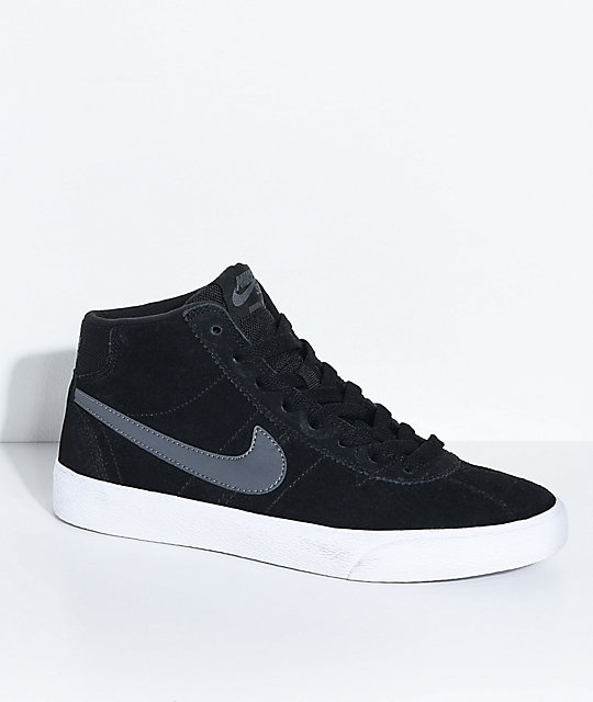 Nike Sb Bruin Hi Black Dark Grey White Skate Shoes
