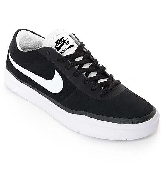 nike sb bruin hyperfeel black white skate shoes zumiez. Black Bedroom Furniture Sets. Home Design Ideas