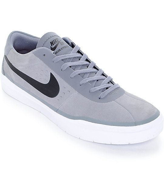 Nike SB Bruin Hyperfeel Cool Grey & Black Skate Shoes