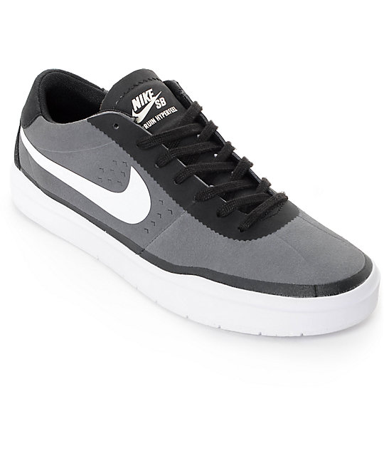 nike sb bruin hyperfeel dark grey white skate shoes zumiez. Black Bedroom Furniture Sets. Home Design Ideas