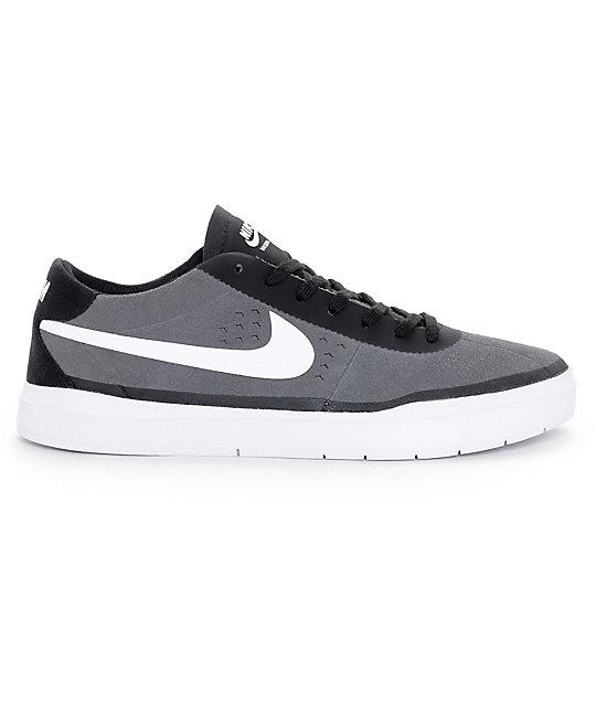 ... Nike SB Bruin Hyperfeel Dark Grey & White Skate Shoes ...