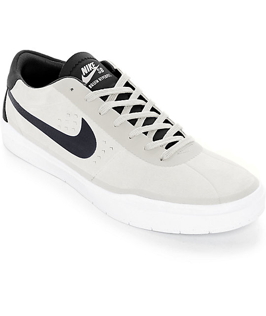 Nike SB Bruin Hyperfeel Summit White & Black Skate Shoes