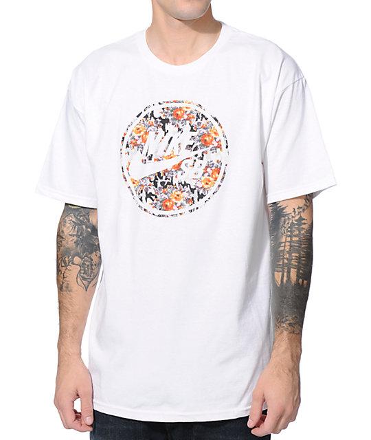 Nike SB Bullseye White & Mandarin T-Shirt