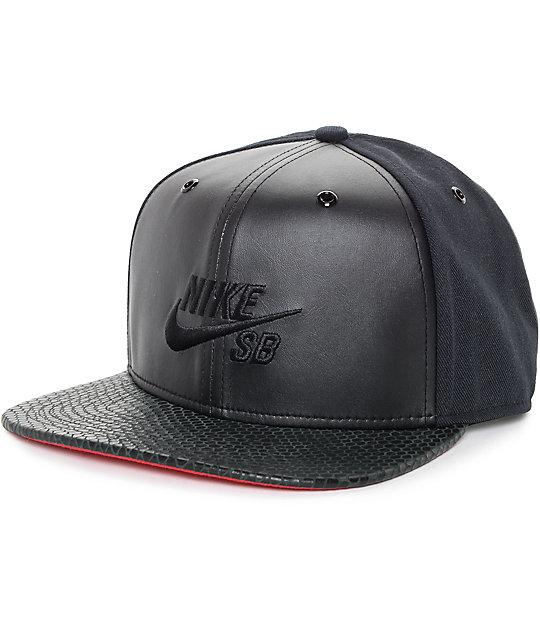 Nike SB Croc Pro Black Strapback Hat