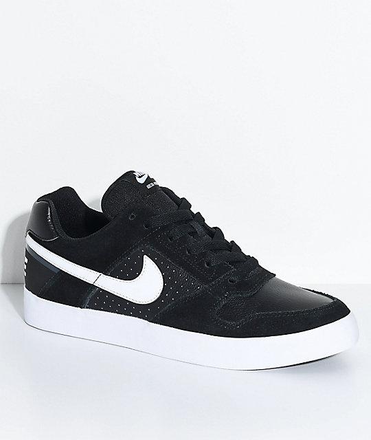 Nike SB Delta Force Black & White Skate Shoes