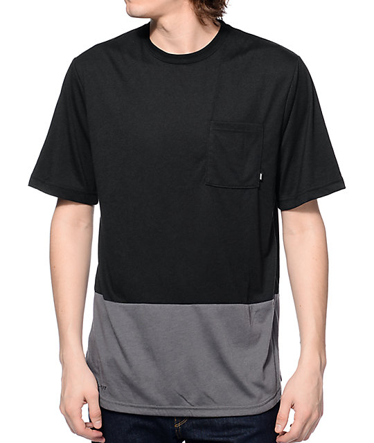 Nike sb dri fit black grey pocket t shirt at zumiez pdp for Buy dri fit shirts
