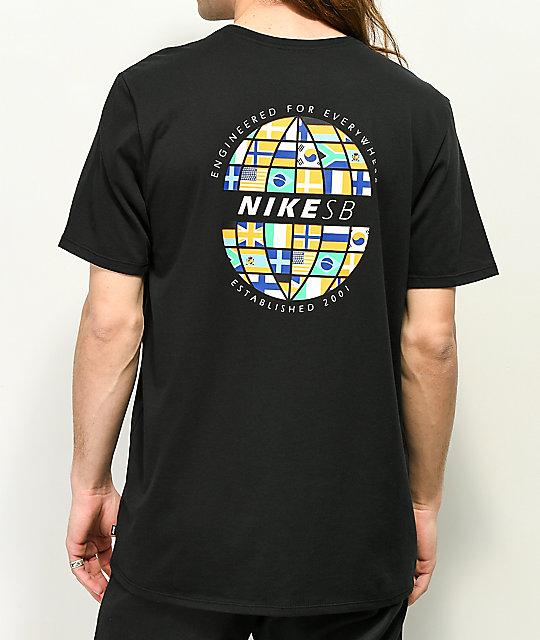 Nike Sb Dri Fit Global Black T Shirt by Nike Sb