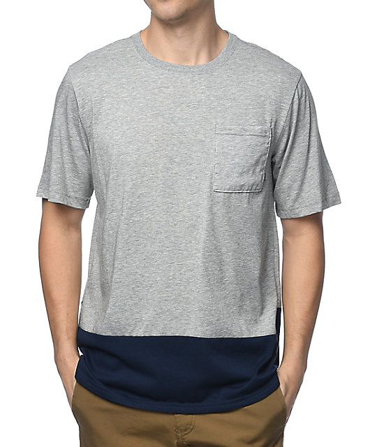 nike sb dri fit heather grey pocket t shirt zumiez