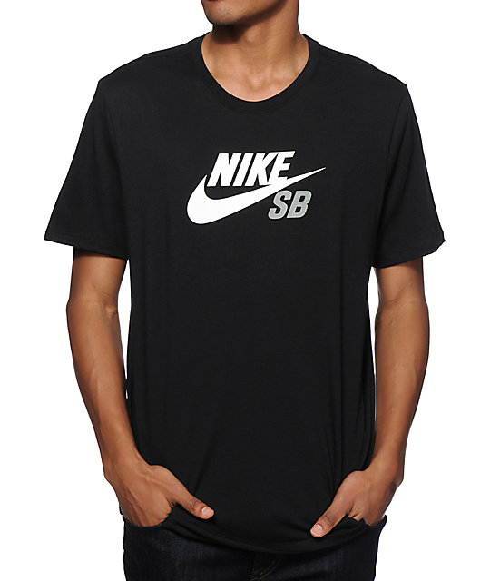 nike sb dri fit icon logo t shirt