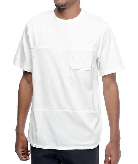 Nike sb dri fit nepps white pocket t shirt at zumiez pdp for What is a fitted t shirt