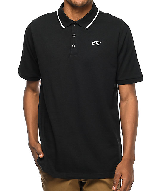 Nike sb dri fit pique knit pink black shirt at zumiez pdp for Nike sb galaxy shirt