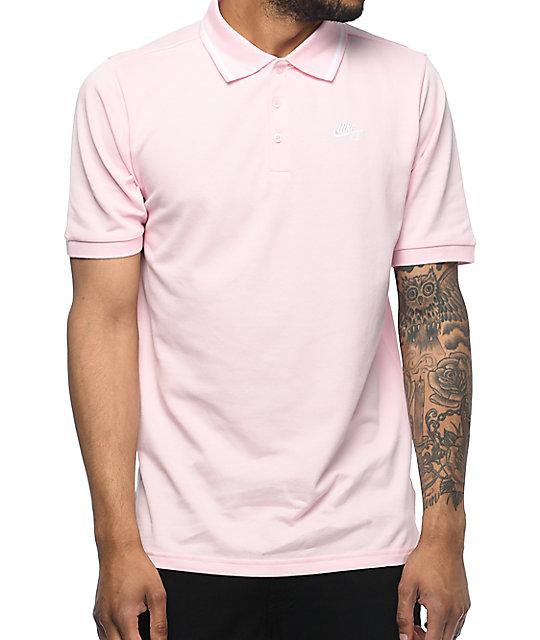 SB Dri Fit Pique Knit Pink Polo Shirt