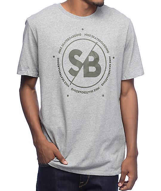Nike SB Dri-Fit SB Slash Grey T-Shirt