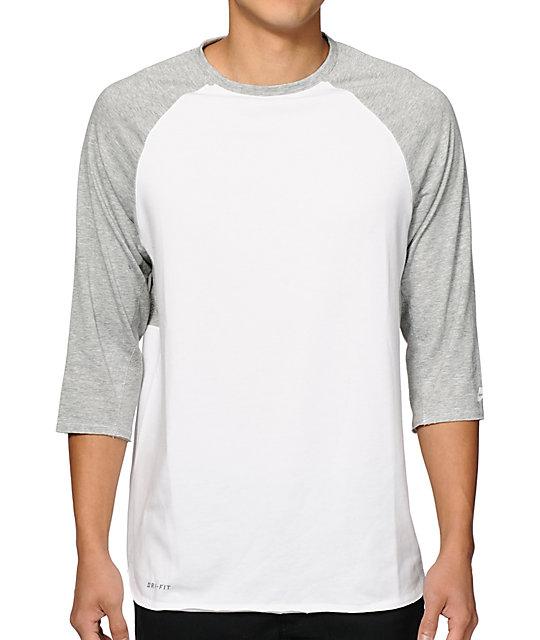 Nike Sb Dri Fit Skyline Baseball T Shirt