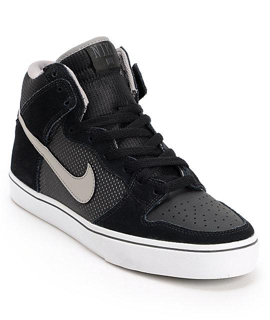 Nike SB Dunk High LR Black & Medium Grey Skate Shoes