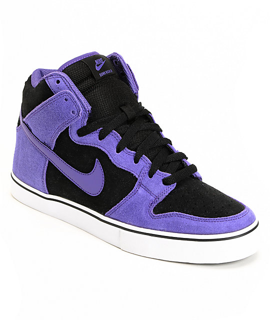 Nike SB Dunk High LR Black & Varsity Purple Shoes