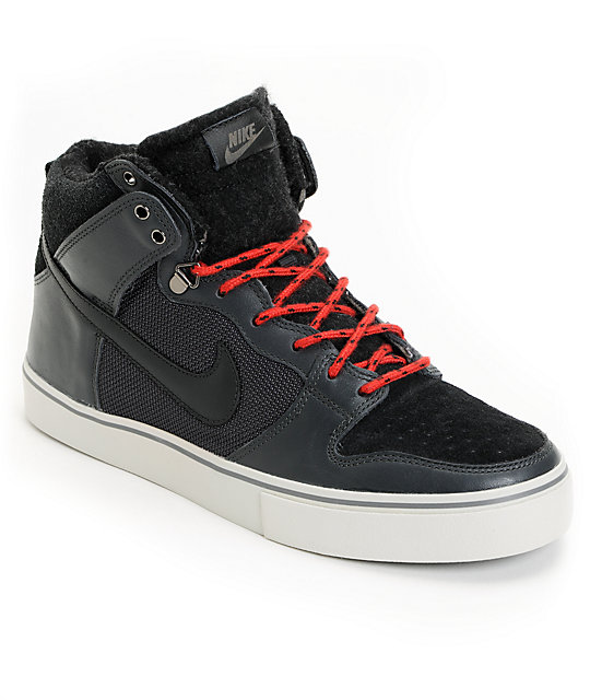 Nike SB Dunk High LR Granite & University Red Skate Shoes