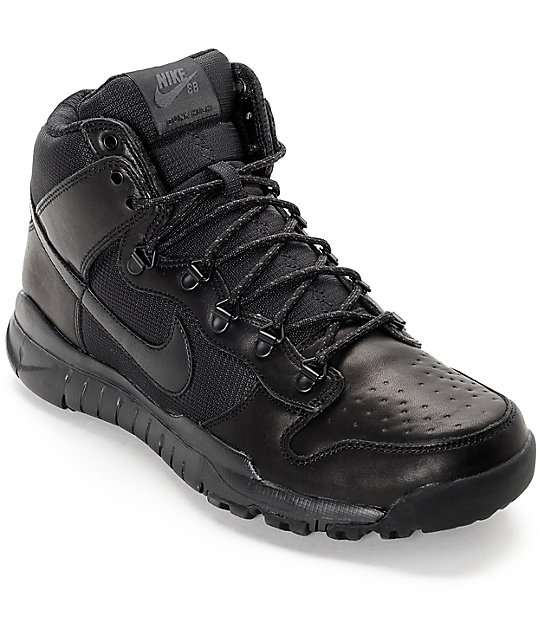 Nike SB Dunk High OMS All Black Shoes