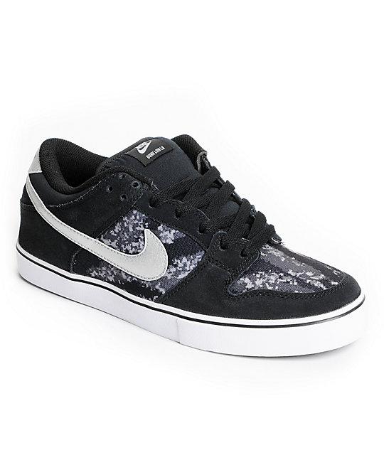 Nike SB Dunk Low LR Black, Metallic Silver & White Skate Shoes