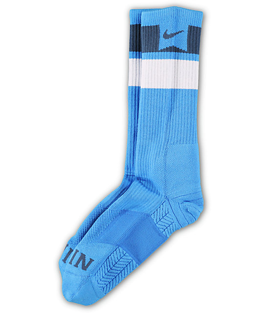 Nike SB Elite Dri-Fit Blue Striped Crew Socks