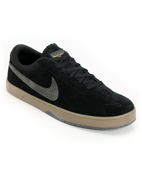 Nike SB Eric Koston 1 Lunarlon Black & Gum Skate Shoes