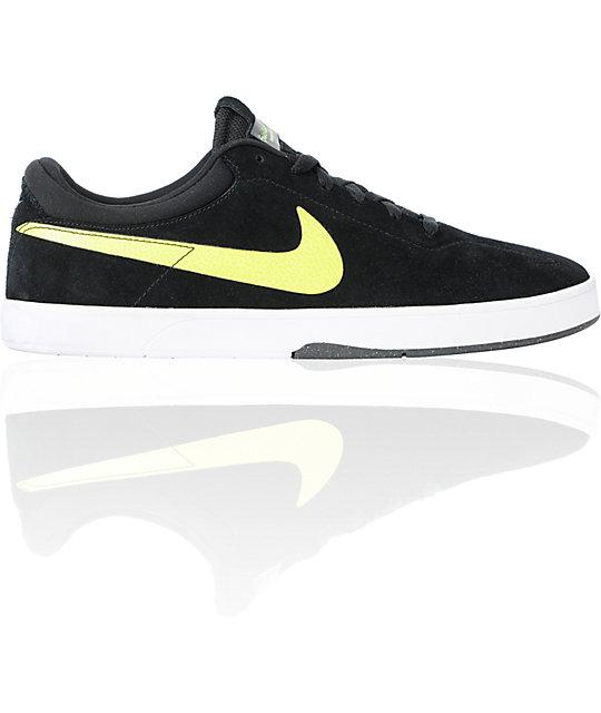 Nike SB Eric Koston 1 Lunarlon Black & Volt Skate Shoes