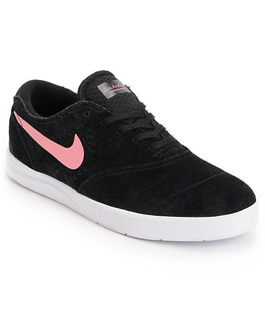 Nike SB Eric Koston 2 Lunarlon Black, Pink & White Skate Shoes